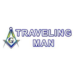 masonic_traveling_man_bumper_bumper_sticker